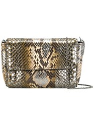 Ermanno Scervino Metallic Grey Effect Crossbody Bag