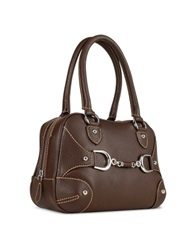Buti Dark Brown Italian Pebble Calf Leather Satchel Bag