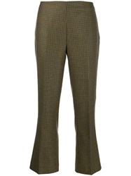 Berwich Houndstooth Cropped Trousers 60