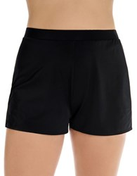 Longitude Solid Elasticized Swim Shorts Black
