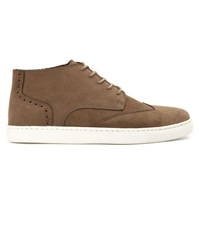 Menlook Label Taupe Nubuck Sneakers