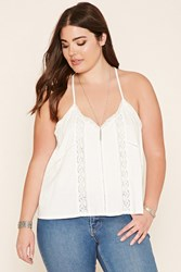Forever 21 Plus Size Lace Trim Cami