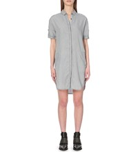 Allsaints Mel Denim Mini Dress Grey
