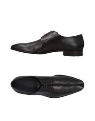 Boss Black Lace Up Shoes Dark Brown