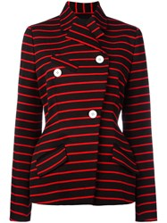 Proenza Schouler Wrap Front Striped Jacket Black