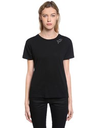 Saint Laurent Je T'aime Printed Cotton Jersey T Shirt