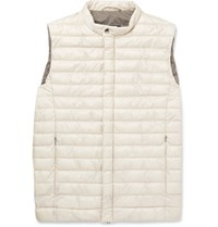 Herno Laminar Quilted Gore Tex Windstopper Gilet Gray