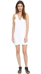 Shakuhachi Embossed 3D Check Dress White