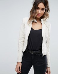 Vero Moda Faux Leather Jacket White