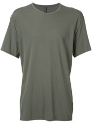 Attachment Plain T Shirt Green