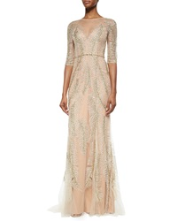 Jenny Packham Fern Sequined Tulle Gown