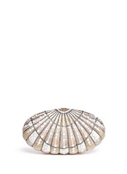Judith Leiber 'Sea Dream Shell' Crystal Pave Minaudiere Multi Colour
