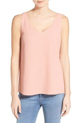 Women's Halogen Double V Neck Shell Pink Peach