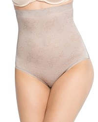 Spanx Pretty Smart High Waisted Brief 10049R Spanx Lace Taupe