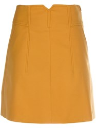 Dorothee Schumacher High Rise A Line Skirt Yellow