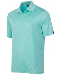 Greg Norman For Tasso Elba Men's Diamond Jacquard Performance Golf Polo Aqua Blast