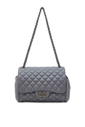 Marc B Quilted Grey Cross Body Bag By Grey