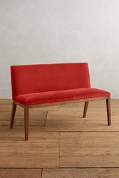 Anthropologie Velvet Emrys Bench Red