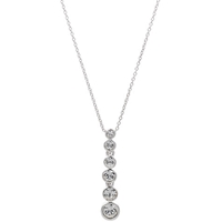Cachet London Graduated Dazzle Pendant Silver