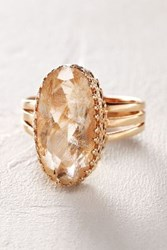 Anthropologie Rutilated Quartz Ring In 14K Rose Gold
