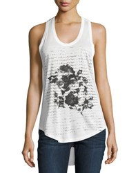 Haute Hippie In Pursuit Of Happiness Floral Tank White