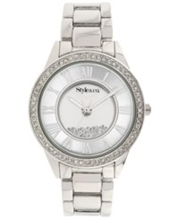 Styleandco. Style And Co. Women's Silver Tone Bracelet Watch 38Mm Sy007s Only At Macy's