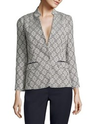 Lafayette 148 New York Alexis Textured Blazer Ink Multi