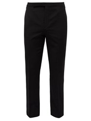 Saint Laurent Side Striped Wool Tuxedo Trousers Black