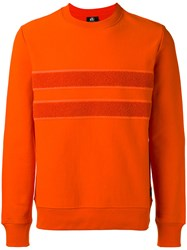 Paul Smith Ps By Contrast Stripe Sweatshirt Yellow Orange