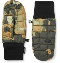 The North Face Camouflage Printed Quilted Shell Thermoball Mittens Army Green