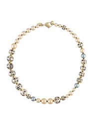 Chanel Vintage Charm Faux Pearl Necklace Multicolour