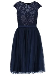 Chi Chi London Cassie Cocktail Dress Party Dress Navy Dark Blue