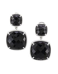 Effy Onyx And Sterling Silver Drop Earrings Black