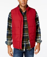 Weatherproof Vintage Men's Big And Tall Puffer Vest Red