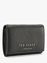 Ted Baker Odelle Mini Leather Foldover Purse Charcoal