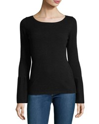 Christopher Fischer Cashmere Trumpet Sleeve Sweater Black