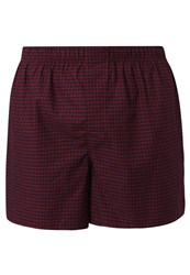 Gap Twill Gingham Boxer Shorts Garnet Dark Red