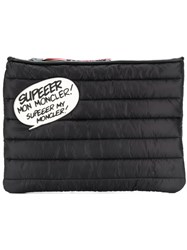 Moncler Speech Bubble Quilted Clutch Black