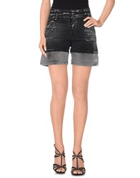 Galliano Denim Denim Bermudas Women Black