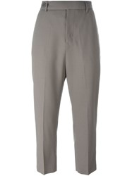 Rick Owens Cropped Trousers Grey