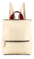 Clare V. Remi Backpack In Ivory. White Rustic
