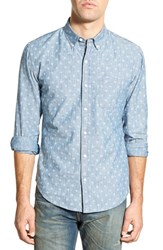 Men's Bonobos 'White Snowfall' Slim Fit Chambray Sport Shirt