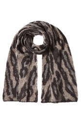 By Malene Birger Scarf With Mohair And Wool Brown