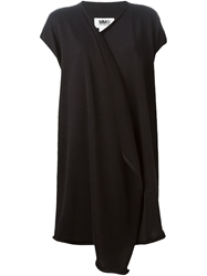 Mm6 Maison Margiela Short Sleeved Cardigan Black