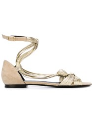Pierre Hardy Strappy Flat Sandals Nude And Neutrals