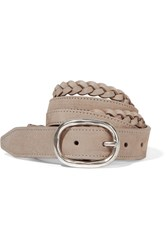 Rag And Bone Braided Nubuck Belt Beige