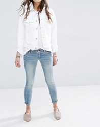 Denim And Supply Ralph Lauren By Cropped Ankle Grazer Skinny Jeans With Distressing Blue
