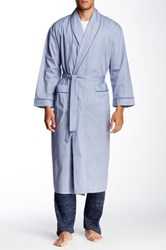 Majestic Long Sleeve Piped Trim Full Length Robe Blue