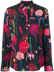 Paul Smith Ps By Tropical Print Shirt Blue