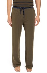 Daniel Buchler Men's Peruvian Pima Cotton Lounge Pants Army